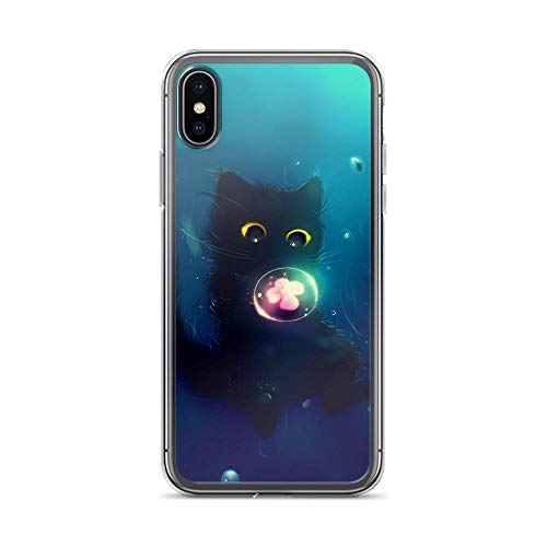 iPhone X/XS Pure Clear Case Cases Cover Cat Cute Ball Flower Art
