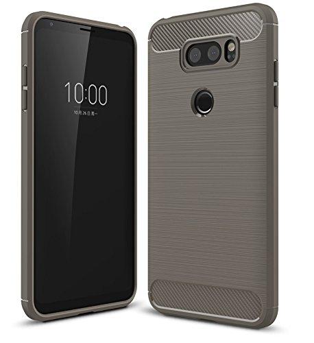 LG V30 / LG V30S Funda,cubierta ultra delgada de la carcasa [Durable] [a prueba de golpes] Protección Máxima contra golpes para LG V30 / LG V30S(Gris) Gris