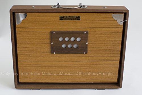 Shruti Box, Monoj Kr Sardar, Large, 16 x 3.5 x 12.5 Inches, Solid Teak Wood With Bag, In USA, Long Sustain, Surpeti Sur peti, MKS, Yoga Music (PDI-FBJ)