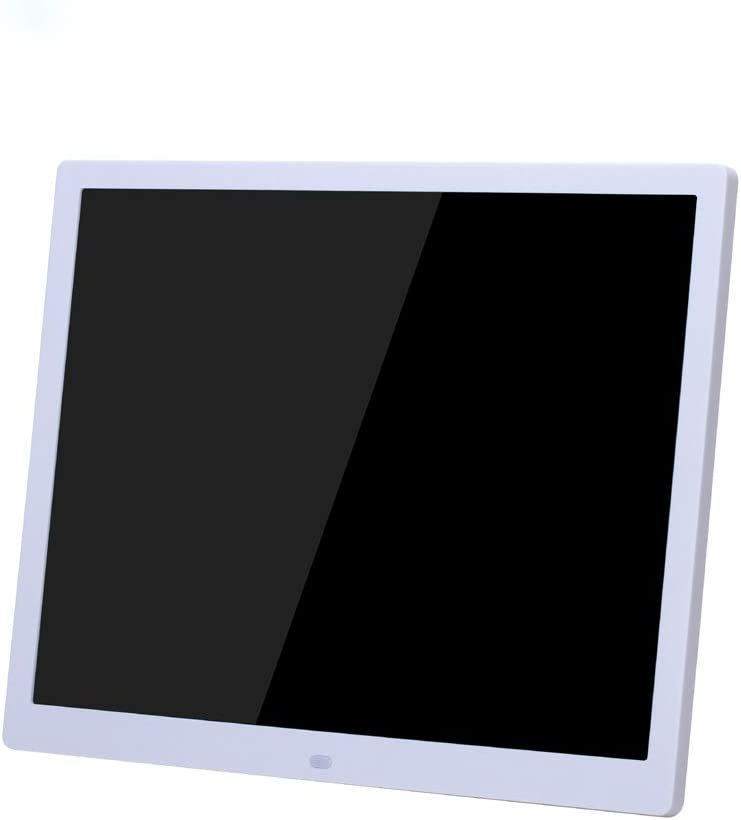 Black Digital Photo Frame KANEED 15-inch Digital Photo Frame Electronic Photo Frame Ultra-Narrow Side Support 1080P Wall-Mounted Advertising Machine Color : White