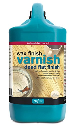 Polyvine Wax Finish Varnish Dead Flat Gallon by Polyvine