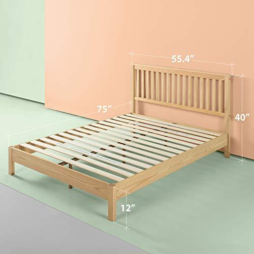 Zinus Becky Farmhouse Wood Platform Bed, Full