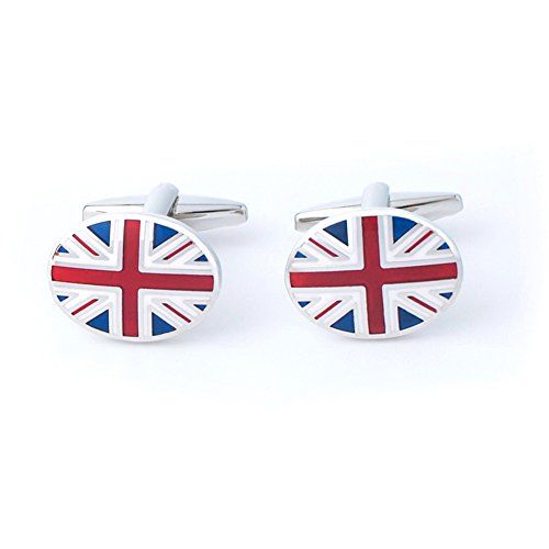Anfly Official England British Flag Cufflinks lag Wedding Dress Shirts Cufflinks for Men by Anfly