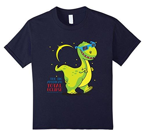 Kids Dino Solar Eclipse August 2017 Shirt   Sun Eclipse T Shirt 4 Navy