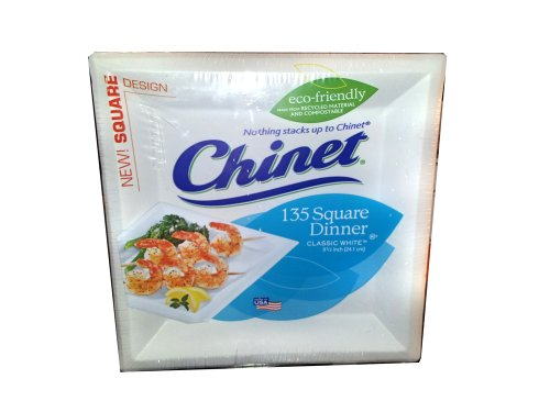 Chinet Eco-Friendly Square Paper Dinner Plates 135 ct.