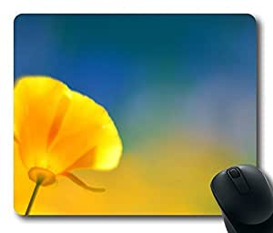 California Poppy 2 Mouse Pad Oblong Shaped Mouse Mat Design Natural Eco Rubber Durable Computer Desk Stationery Accessories Mouse Pads For Gift by Maris's Diary