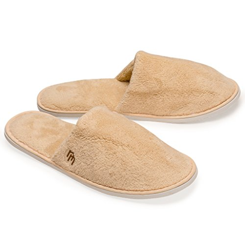 Nicely Neat 6pk Woodland Closed Toe Coral Fleece Slipper (M)
