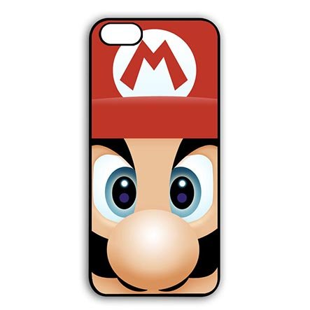 Super Mario Bros Pattern Fancy Protector Slim Case for iPhone 7(4.7 Inch Screen) - Customize Black iPhone 7(4.7 Inch Screen) Aegis Case Special Gift for (Family Guy Anime Peter)