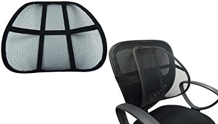 Amazon Com Lumbar Support Cushion Seat Back Car Home Office Chair Pain Relief Travel Health Personal Care