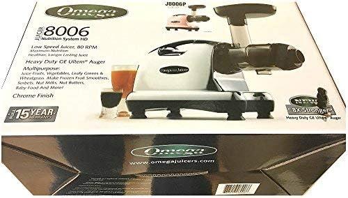 Omega j8006 centro de nutrición exprimidor, color negro y cromado ...