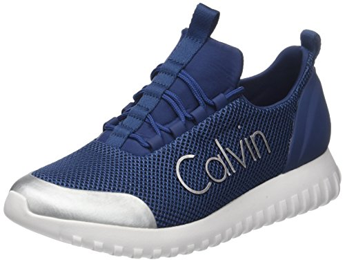 Calvin Klein Jeans Herren Ron Mesh/Brushed Metal Sneaker, Silber (Sus 000)