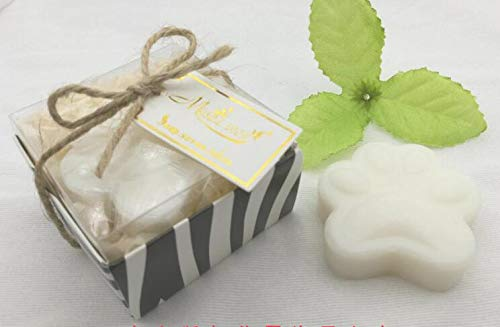 (AiXiAng Handmade Scented Cute Paw Print Soap Favors Guests Keepsake Gift for Jungle-Themed Bath Accessories and Baby Shower Party Favors Decorations, Parties, Thanksgiving Gifts)