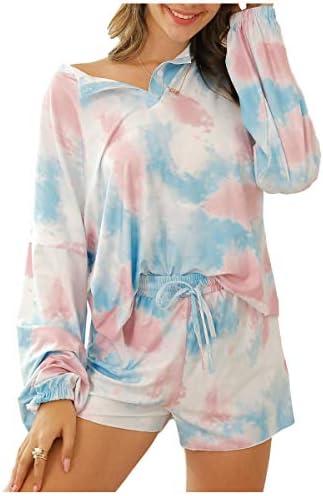 Ever-Pretty Set Pigiami Due Pezzi Pantaloncini Loungewear Casuale Estate da Donna Completino da Notte 01174