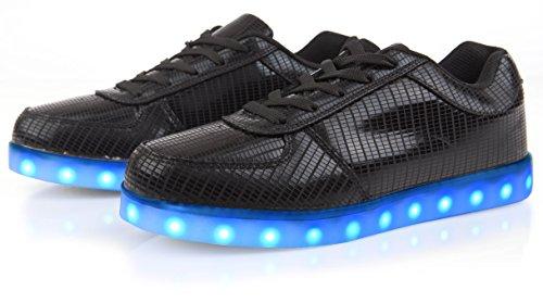 Sneakers Elettro-illuminate Di Stile Elettrico Nere