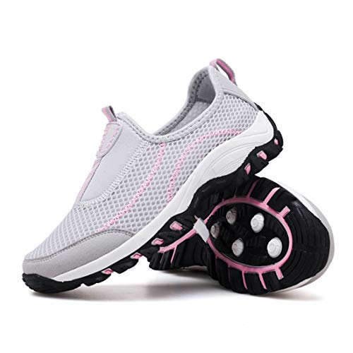 Clair Flyknit Lger Marche Et Gris Sevenwell Femmes De Course Pour Sportif Entraneur Sportif Femme Rose Pied Chaussure TZfp1n