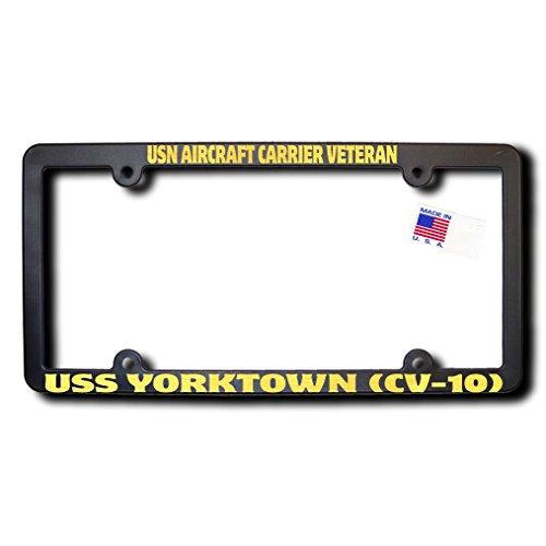 USN Aircraft Carrier Veteran USS YORKTOWN (CV-10) Frame w/Reflective Gold Text