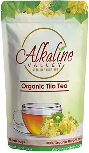 - Linden Flower Tea, Tila Tea or Te De Tila - 100% Organic and Alkaline - 15 Unbleached/Chemical-Free Linden Tea Bags - Caffeine-Free, No GMO