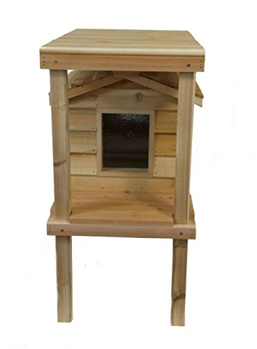 insulated cedar cat house - 3