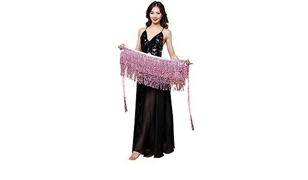 Disfraz profesional de danza del vientre para mujer, bufanda de ...