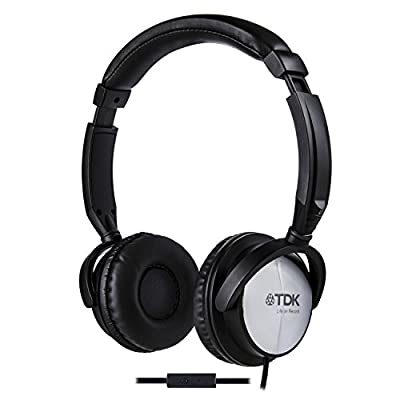 TDK Life On Record ST170 On-Ear Smartphone Headphones with In-Line Microphone - Black