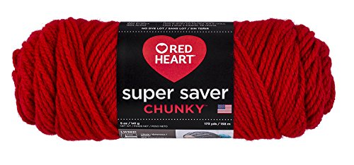 - RED HEART Super Saver Chunky, Cherry Red