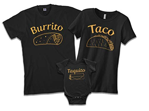 Threadrock Taquito | Baby Son or Daughter Infant Bodysuit | 24 Months, Black ()