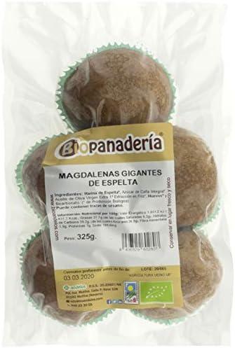 Biopanadería Magdalenas Gigantes de Espelta Integral 5 unidades Ecológicas Artesanas: Amazon.es: Alimentación y bebidas