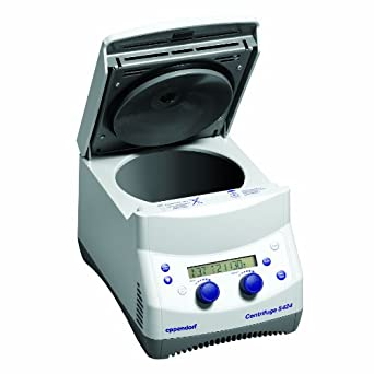 Eppendorf 22620487 Model 5424 Rotary Knob Control Microcentrifuge without Rotar, 15,000rpm Maximum Speed, 120V/60Hz
