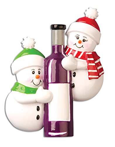 [PERSONALIZED CHRISTMAS ORNAMENTS COUPLES KIT - WINE BOTTLE-COUPLE KIT] (Couple Personalized Christmas Ornament)