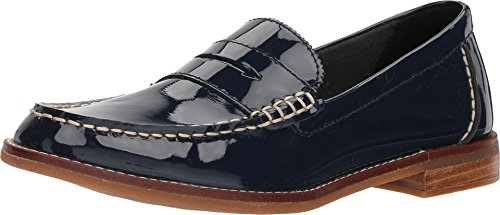 Pennies Blue Sperry (Sperry Women's Seaport Penny Patent Loafer, Navy, 5.5 M US)