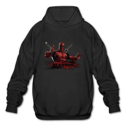 Best Original Costume Ideas (AOPO Deadpool Wade Wilson Men's Long Sleeve Hooded Sweatshirt / Hoodie Large Black)