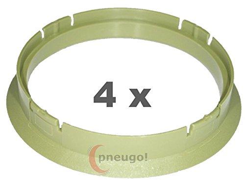 4/x Bague de Centrage plastique 70.0/mm vers 64.1/mm Vert Clair