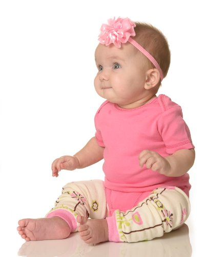 Girls 5 pack set of elastic baby headbands