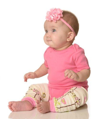 Girls 5 pack set of elastic baby headbands