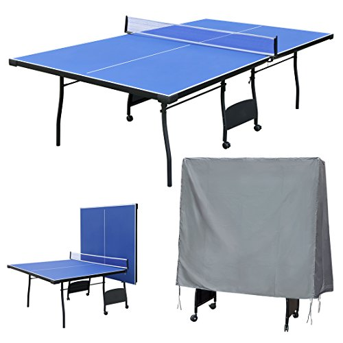 Funmall Folding Table Tennis Table With Waterproof Ping Pong Table Cover By  Funmall