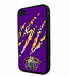 Zheng caseZheng caseNCAA ISU Tiger football, Cool iPhone 4/4s / 4s Smartphone iphone Case Cover Collector iphone TPU Rubber Case Black