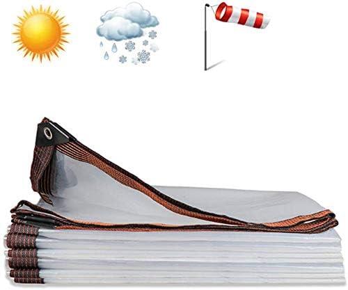グロメット付きポリクリアターポリン、透明タープカバー温室シートパティオキャノピーテントボート用ヘビーデューティ多目的タープポリエチレン