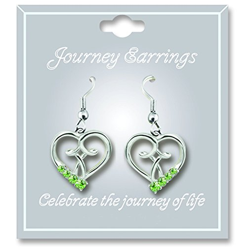 Cathedral Art JE108 August Peridot Birthstone Earrings
