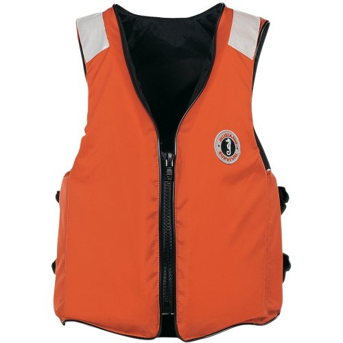 The Amazing Quality Mustang Classic Industrial Floation Vest w/SOLAS Tape - XXL - Orange