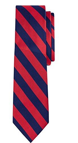 Jacob Alexander Stripe Print Boys Regular College Striped Tie - Red Navy