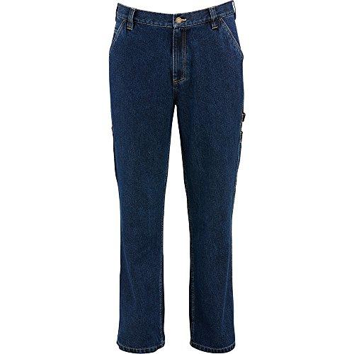 Relaxed Fit Denim Pant - Wolverine Men's Hammerloop Cotton Denim Carpenter Pant, Dark Denim, 38W x 34L
