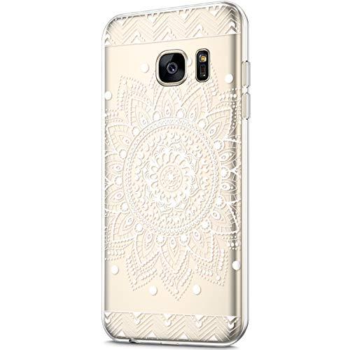 Cover Sottile Modello Gomma fiore Tpu Leggere Trasparente Protettiva Ukayfe E Ultra Con Per Samsung Bianco Case Gel Morbida Edge Galaxy Chiaro S7 Fiore Edge Silicone Custodia 0wggvxzZtq