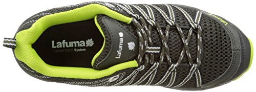 Lafuma M Track, Zapatillas de Deporte Exterior para Hombre Multicolor - Multicolore (Deep Grey/Acid Green)