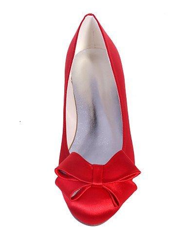Party ShangYi Blue Festivität Flacher Rosa Ballerinas Rundeschuh Damenschuhe Satin Elfenbein Rot Schwarz Blau Absatz amp; Hochzeit tfHf1