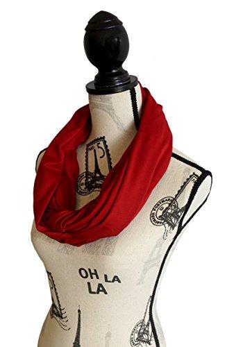 100% Cotton Nursing Cover & Nursing scarf for Breastfeeding Babies - Breastfeeding Scarf - Infinity Nursing Scarf - Solid Design (Burgundy)