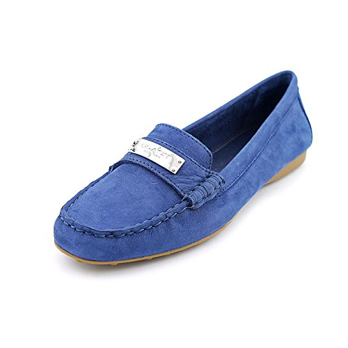Coach Fredrica Women Round Toe Leather Blue Loafer