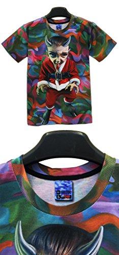 Yonbii Herren T-Shirt Mehrfarbig Mehrfarbig, Mehrfarbig, S(asiatische Größe)