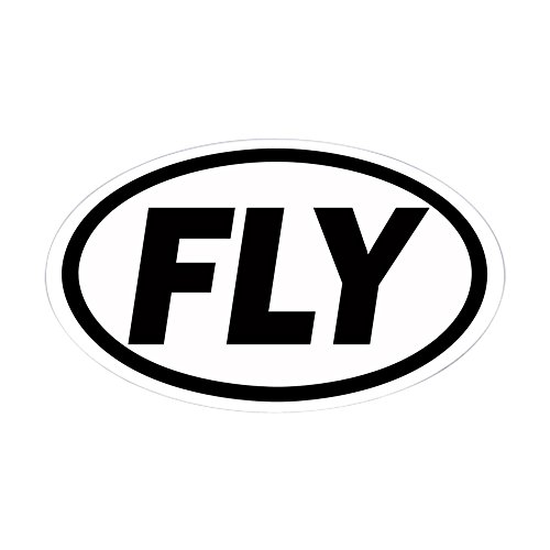 CafePress - FLY Euro Oval Sticker - Oval Bumper Sticker, Euro Oval Car Decal - Fly Small Airplane