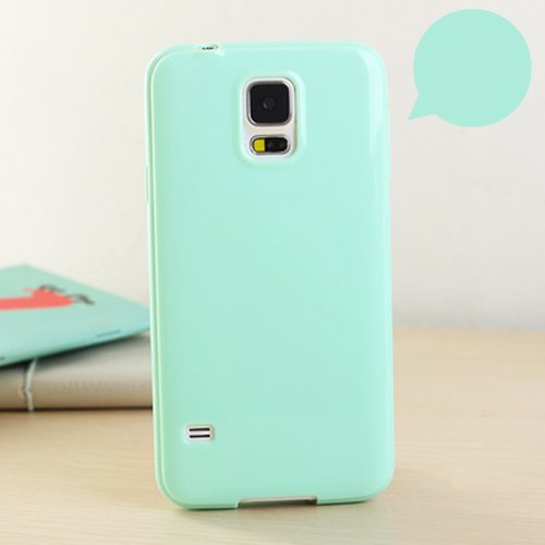 Case, ANLEY Candy Fusion Series - [Slim Fit] Classic Jelly Silicone Case Soft Cover for Samsung Galaxy Note5 (Mint Green) + Free Ultra Clear Screen Protector ()