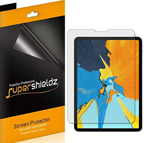 Supershieldz [3-Pack] for Apple iPad Pro 11 inch Screen Protector, High Definition Clear Shield + Lifetime Replacements Warranty (2018 Release) [Updated Version]